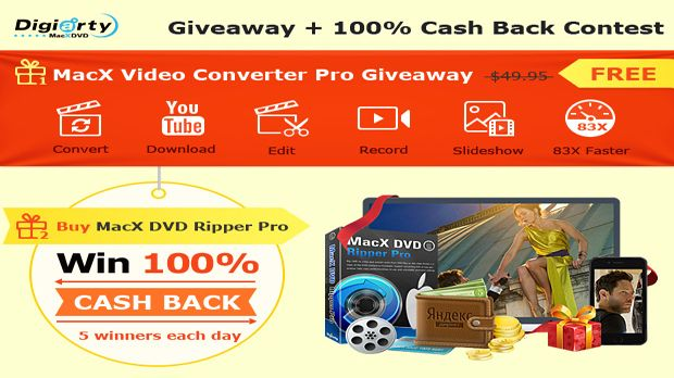 MacX Video Converter Pro Giveaway and 100% Cash Back Contest