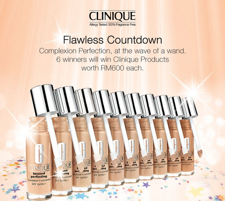 WIN Clinique Products worth RM600 each at Clinique Malaysia
