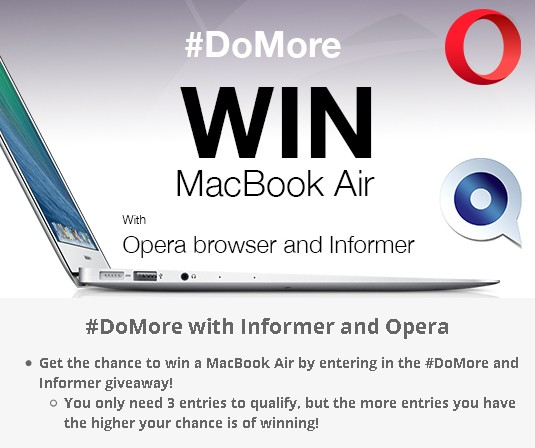 Win MacBook Air at DoMore with Informer and Informer