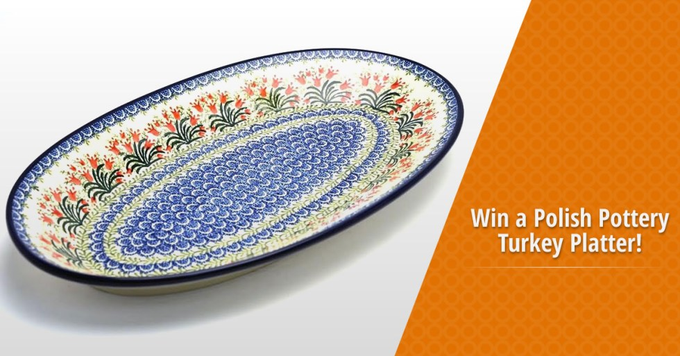 Win a Polish Pottery Turkey Platter from PolishPotteryGallery.com!