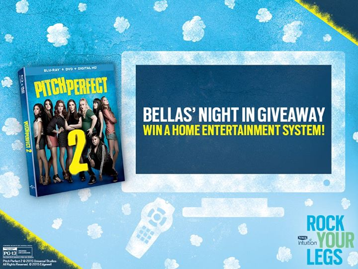 Win a home entertainment system so you can watch Pitch Perfect 2 at Schick Intuition