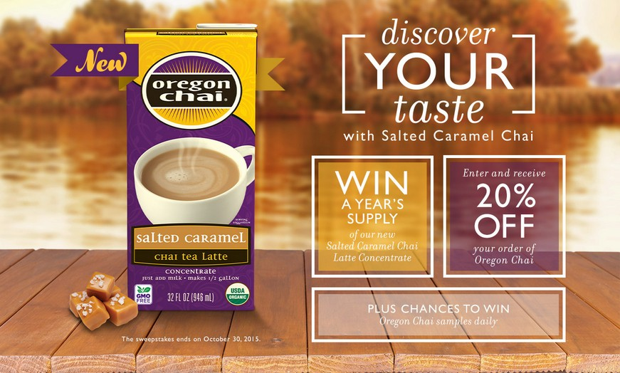 Win a year's supply of Oregon Chai