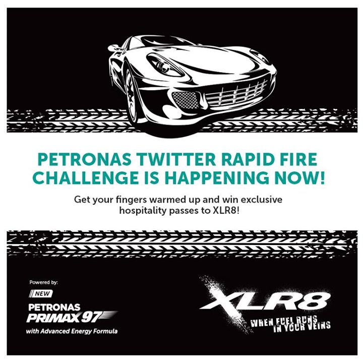 Win exclusive hospitality passes to XLR8 happening on 3-4 October 2015 at PETRONAS Brands Malaysia