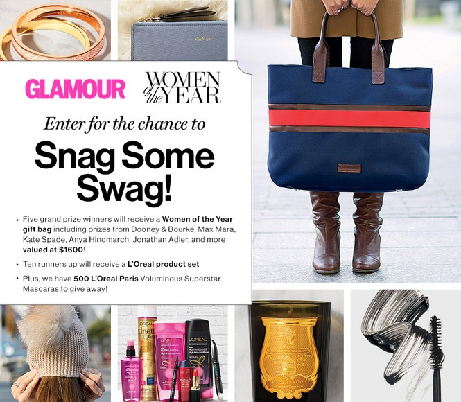 Enter for the chance to Snag Some Swag at Glamour Magazine USA
