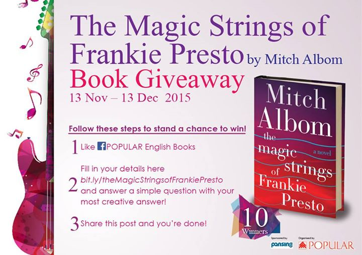 Free Best Selling Author Mitch Albom The Magic Strings Of Frankie