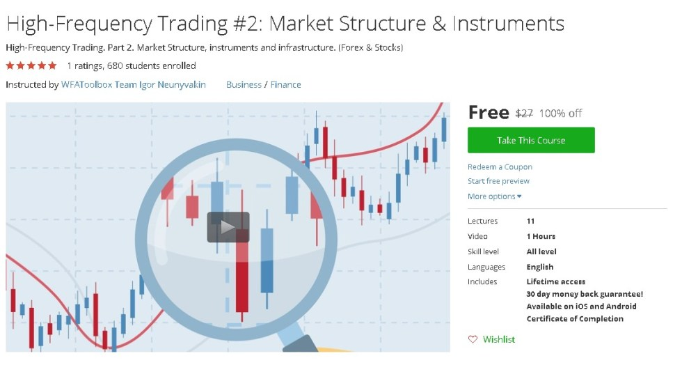 Free Udemy Course on High-Frequency Trading #2 Market Structure & Instruments