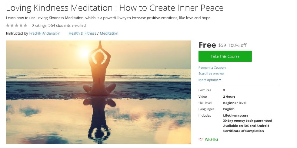 Free Udemy Course on Loving Kindness Meditation  How to Create Inner Peace