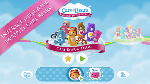 Free iOS App Care Bears Appisodes Care Bear-A-Thon By Plumzi, Inc.