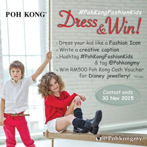 WIN yourself a Poh Kong Cash Voucher for Disney jewellery now!