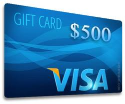 $500 Visa Gift Card Sweepstakes Giveaway