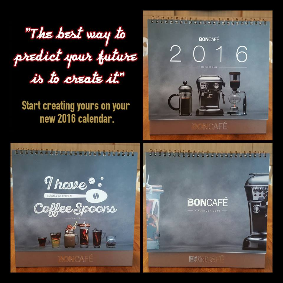 Boncafé Exclusive 2016 Table Calendars Giveaway