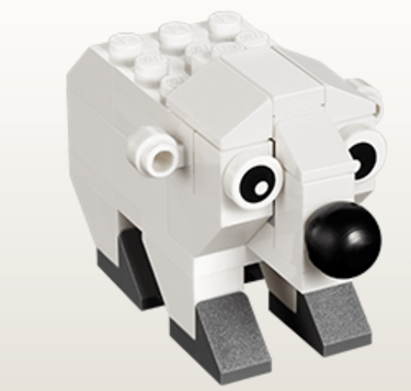 Come build this LEGO® Polar Bear model and take it home for FREE after