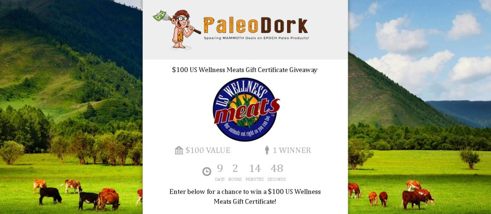 Enter for a chance to win a $100 US Wellness Meats Gift Certificate!