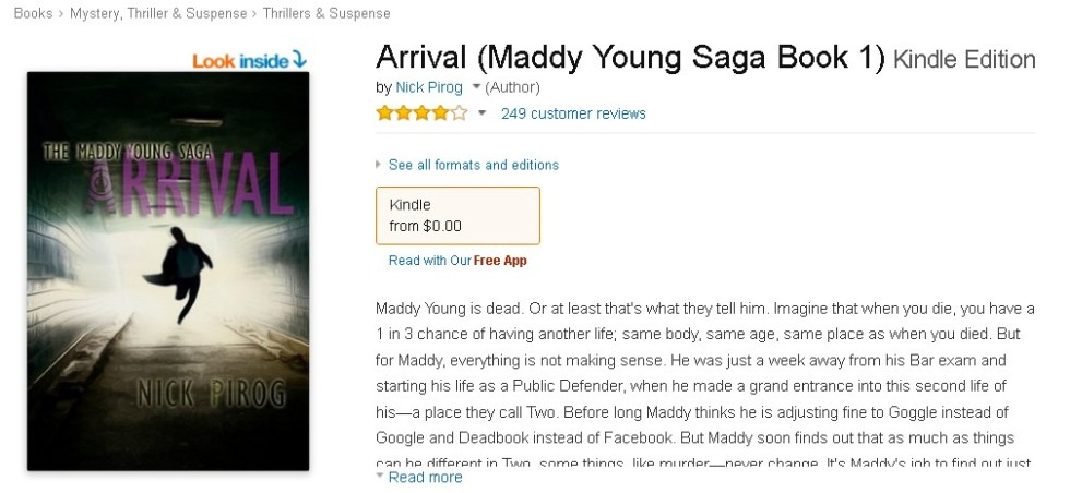 FREE Arrival (Maddy Young Saga Book 1) Kindle Edition