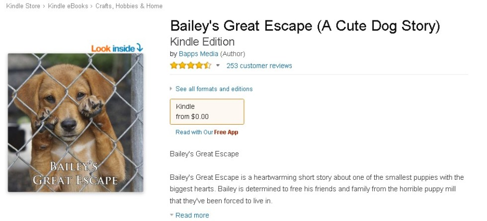 FREE Bailey's Great Escape (A Cute Dog Story)