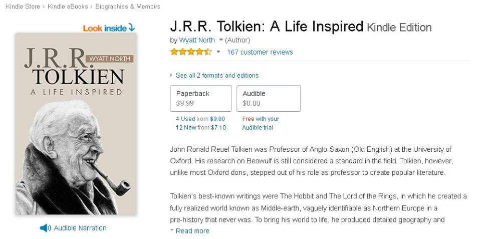 FREE J.R.R. Tolkien A Life Inspired Kindle Edition