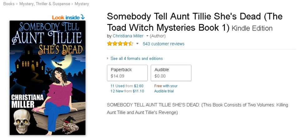 FREE  Somebody Tell Aunt Tillie She's Dead (The Toad Witch Mysteries Book 1) Audible Edition