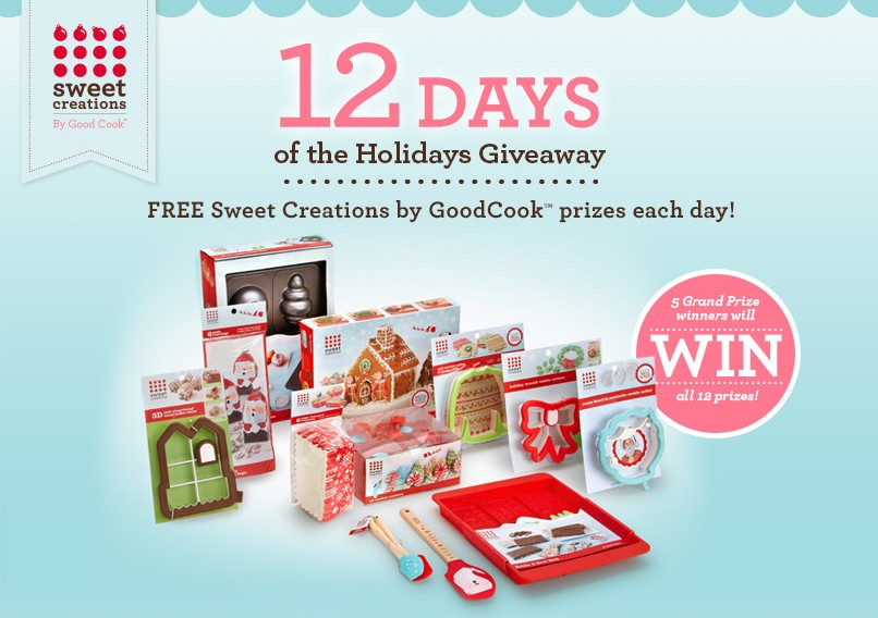 Free Sweet Creations by GoodCook Prizes each day