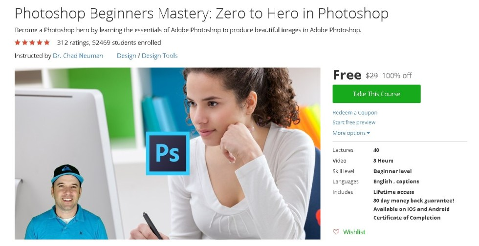 Free Udemy Course on Photoshop Beginners Mastery Zero to Hero in Photoshop