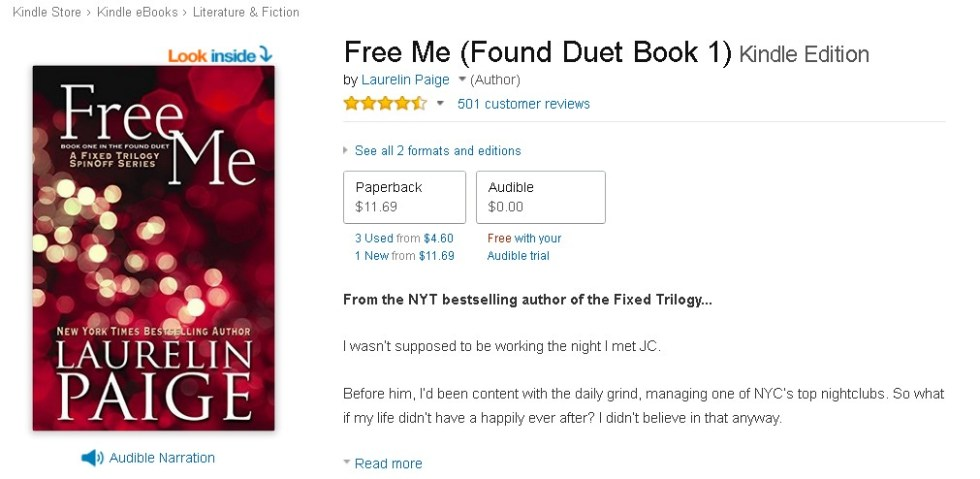 Free at Amazon Free Me (Found Duet Book 1) Kindle Edition