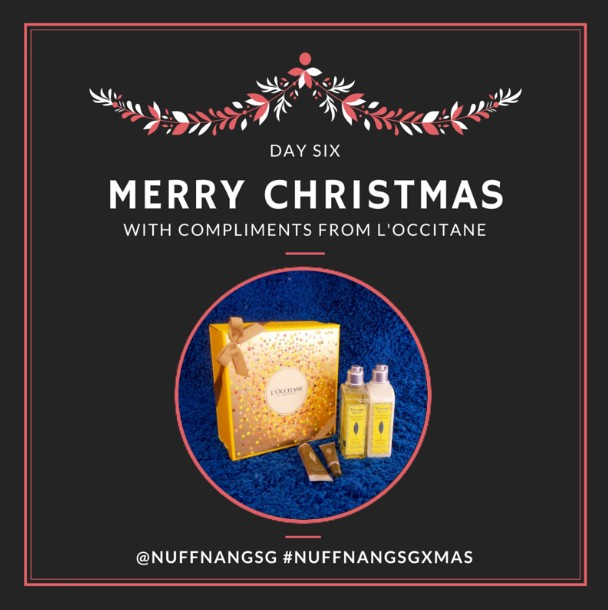 L'OCCITANE en Provence is giving away 2 Xmas Giftboxes with different surprises in them at Nuffnang
