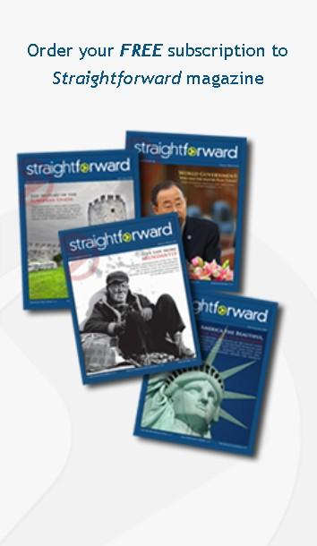 Receive the print edition of Straightforward magazine
