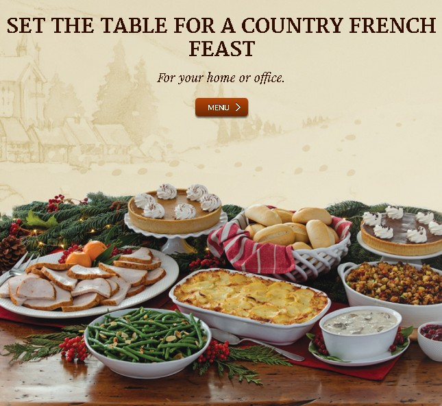 Sign up here and receive an email for a petite Salade or cup of Soupe at la Madeleine Country French Cafe