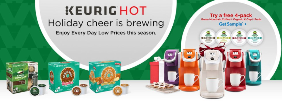 Try a free 4-pack of Keurig Green Moutain Coffee Organic K-Cup Pods