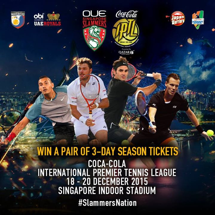 WIN 3-Day season tickets to catch the International Premier Tennis League at Royal Sporting House Singapore