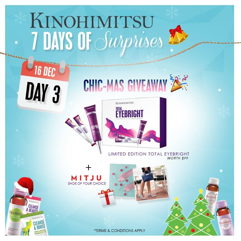 WIN Kinohimitsu Limited Edition Total Eyebright Set and a pair of Mitju Shoe of your choice