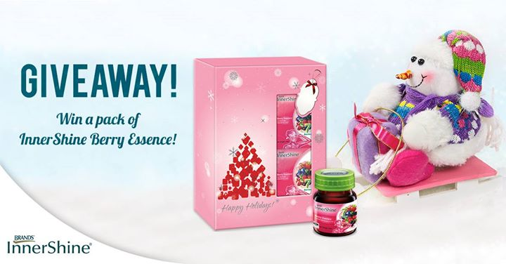 WIN a limited edition InnerShine Berry Essence Christmas packs at Brand's InnerShine Singapore