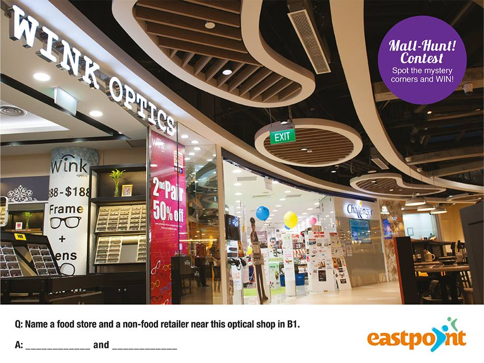 Win $20 shopping or dinning vouchers at Eastpoint Mall Singapore