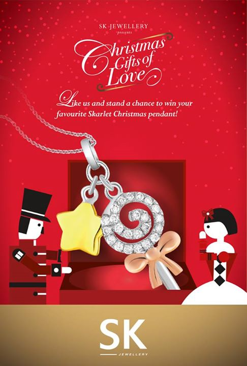 Win a Christmas edition pendant SK Jewellery Singapore