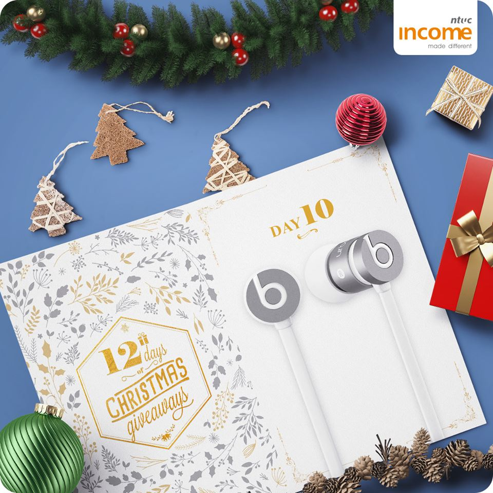 Win a pair of UrBEATS EARPHONES at NTUC Income