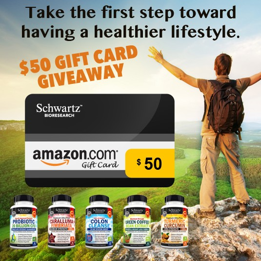 $50 Gift Card for Schwartz Bioresearch entired catalog in Amazon.com