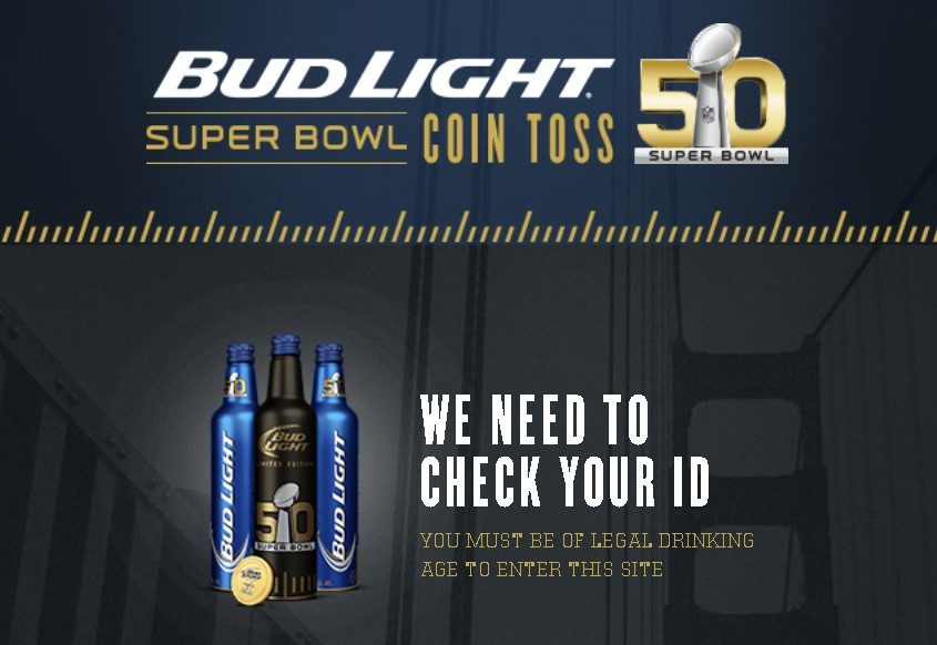 BUD LIGHT® SUPER BOWL COIN TOSS SWEEPSTAKES