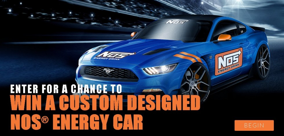 Enter for a chance to Win a custom designed NOS® Energy Car