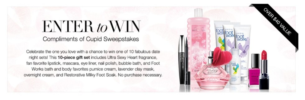 Enter to win AVON Compliments of CupidSweepstakes