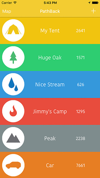 FREE iOS Travel App PathBack - Map The Outdoors By Shawn Hillmann