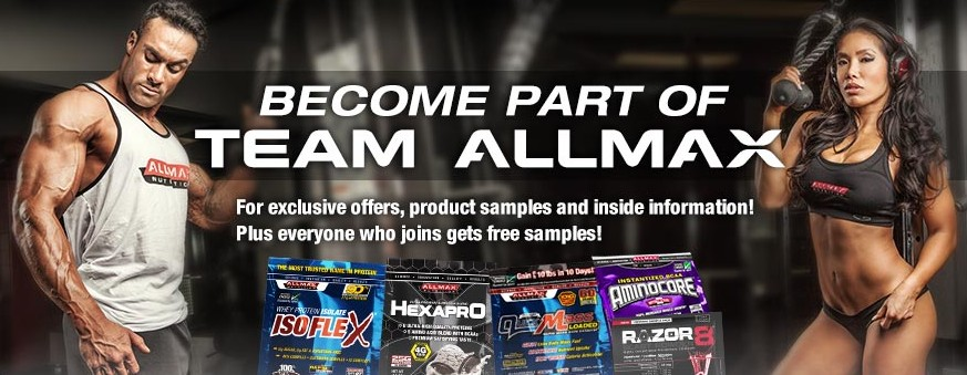 Free ALLMAX Product Samples