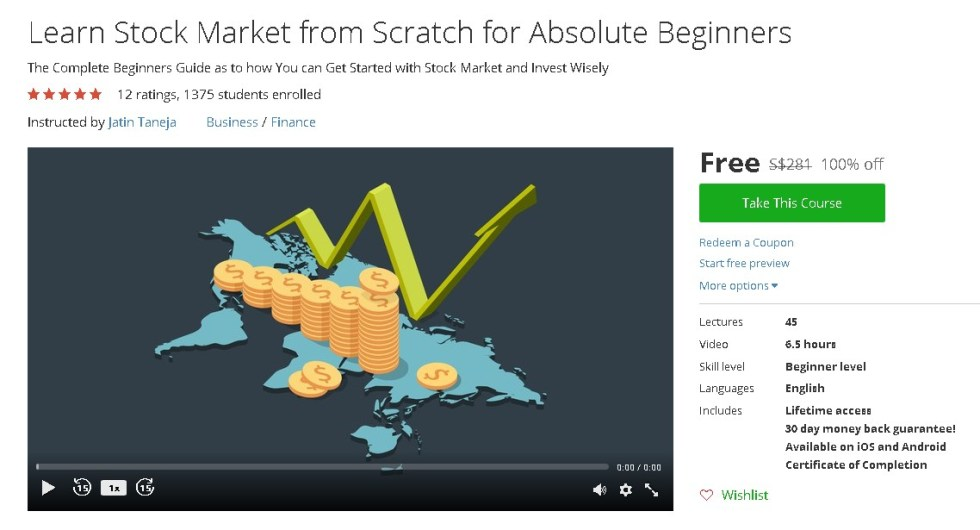 Free Udemy Course on Learn Stock Market from Scratch for Absolute Beginners  (2)