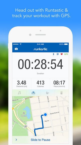 Free iOS AppRuntastic PRO GPS Running, Walking, Jogging, Fitness Distance Tracker and Marathon Training