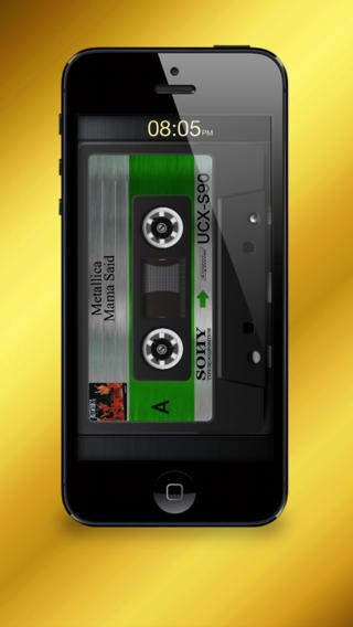 Free iOS Music App Cassette Gold