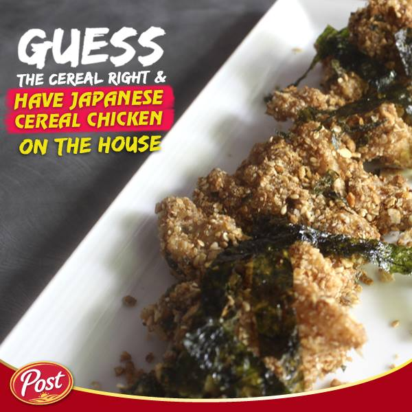 Guess the exact cereal used for this dish and win at POST Cereals Singapore