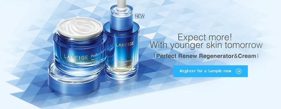 Register for a Laneige Perfect Renew Regenerator & Cream Sample
