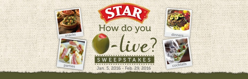 STAR  How do you O-live SWEEPSTAKES