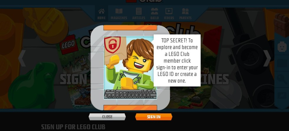 Sign up for free LEGO Club Jr. Magazine