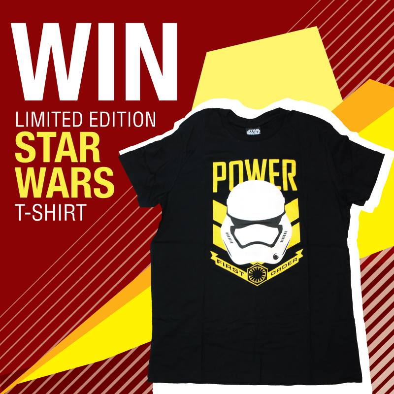 Stand a chance to win a Limited Edition Star Wars T-Shirt at Shihlin Taiwan Street Snacks