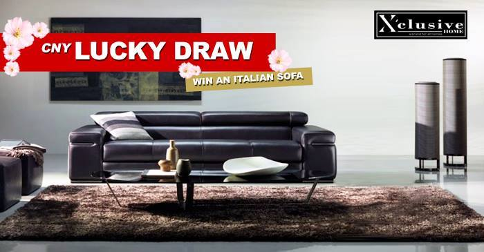Stand a chance to win a set of 3-Seater Full Italian Cowhide Sofa