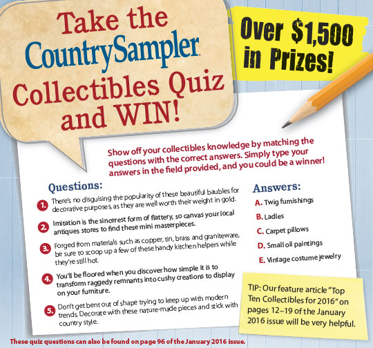 WIN $500 Country Sampler Shopping Spree